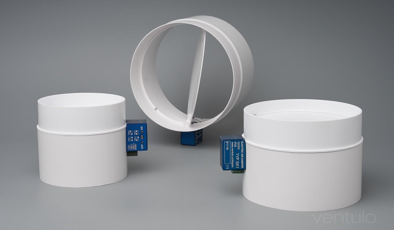 Elektrická škrtící klapka SK1, 100mm, 125mm, 150mm